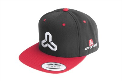 CTM Snapback sapka black/red