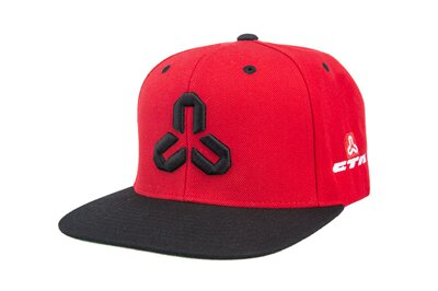 Snapback sapka red/black