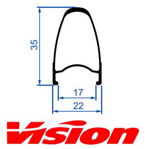VISION Team 35 rear rim, 21 holes